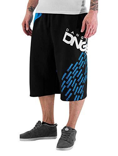 EGOMAXX DNGRS Herren Shorts Baggy Sweat Pants Bermuda Sport Hose, Farben:Blau, Größe Hosen:XL
