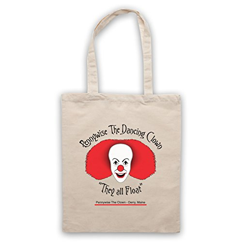 Inspiriert durch IT Pennywise The Dancing Clown Inoffiziell Umhangetaschen Naturlich