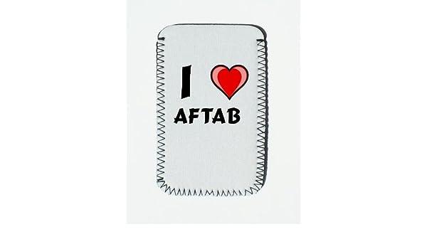 Iphone Case With I Love Aftab Custom Iphone Holder Amazon Co Uk