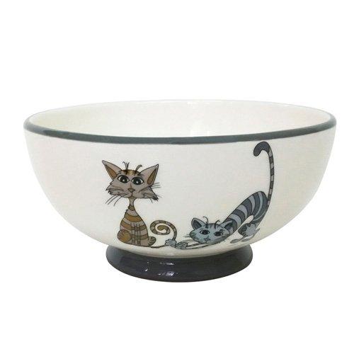 ENESCO Love Cats Bowl Set of 8, 14.5cm, Ceramic, Multicoloured, 14.5x 7.3x 14.5cm, 8Units