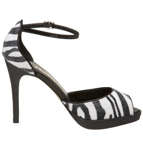 Pleaser BLIS33/LP/PH Sandales Femmes Zebra Pony Hair