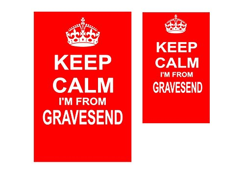 A.paches Keep Calm I'm From Gravesend Novelty Keyring and Fridge Magnet Set.
