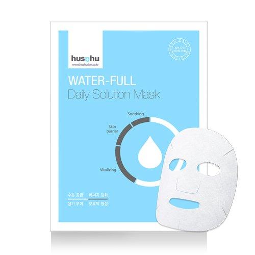 Azulen Feuchtigkeit (Premium Tuchmaske von Hushu WATER-FULL - 10 Stück - entwickelt von koreanischer Beauty-Klinik)