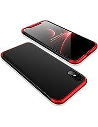 iPhone X Hülle, iPhone X Handyhülle Ultra Slim Case 3 in 1 Hart PC Hard Hardcase 360 Grad Schutzhülle Bumper Cover Plastik Schutz Tasche Schale für Apple iPhone X 10 Case Cover