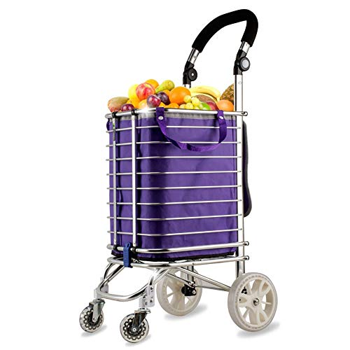 fa251550ee51 ZSLLO Staircase Shopping Cart Trolley Shopping Cart Trolley Bag Collapsible  Reusable Grocery Shopping Bag Eco Supermarket Bag Easy To Use (Size : S)