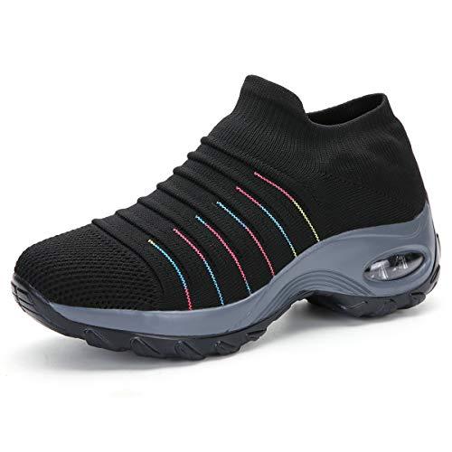 Zapatillas de Deporte para Mujer Calzado de Gimnasia Calzado Ligero para Correr Calcetines cómodos...