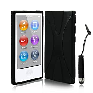 Coque apple ipod nano 7g 7 me g n ration etui noir for Housse ipod nano