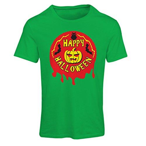 lepni.me Camiseta Mujer Happy Halloween! - Party Clothes - Pumpkins b080346e542f