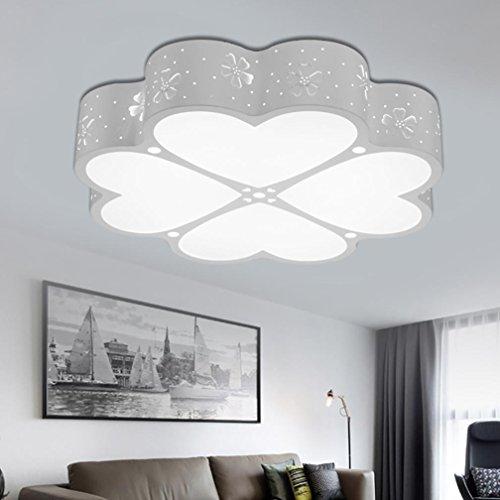 Moderne Task-lampe (OOFAY LED Deckenleuchte Acryl Liebe Moderne Schlafzimmer Wohnzimmer Kinderzimmer Lampen 30W (DREI-Farb-Abschnitt des Lichts))