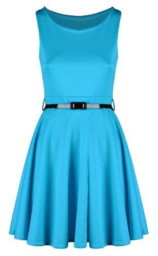 Swagg Fashions -  Vestito  - Donna Blu - Turchese
