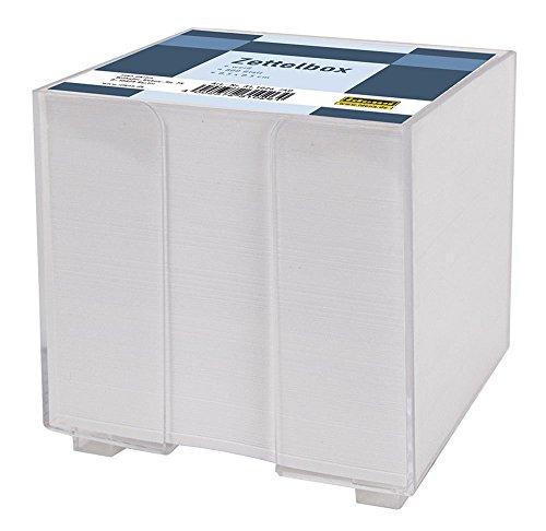 Idena 311026 - Zettelbox, 8.5 x 8.5 x 8 cm, 800 Blatt, weiß
