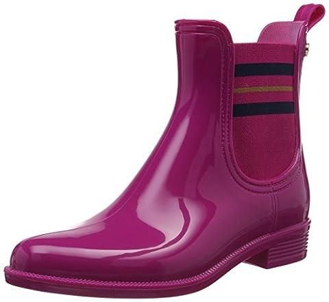 Tommy Hilfiger Damen O1285DETTE 7R Gummistiefel, Pink (Very Berry 501), 36 EU