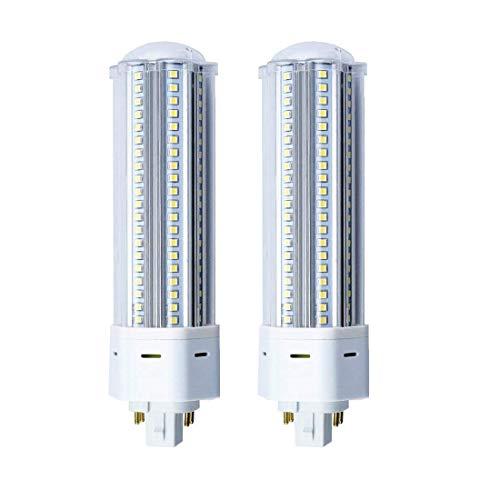 GX24Q Sockel Kompaktleuchtstofflampe 22W 2200 lumen Kaltweiß 6000K AC85-265v 360°Abstrahlwinkel 140pcs Super Helligkeit (nicht dimmbar 2Stück) -