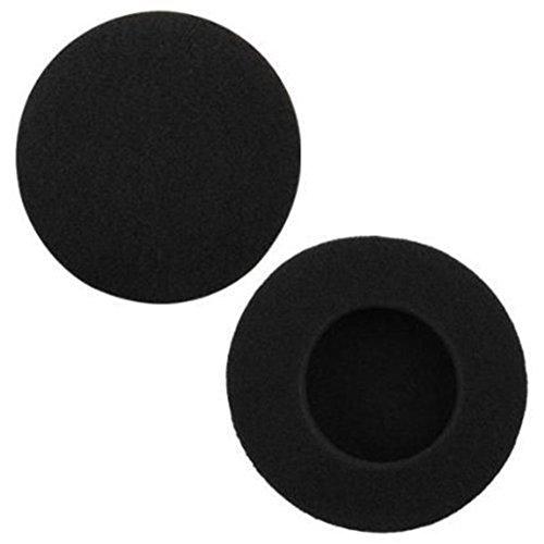 Jingyuu 2 Pcs Cubierta Auricular Esponja Negro, 35mm