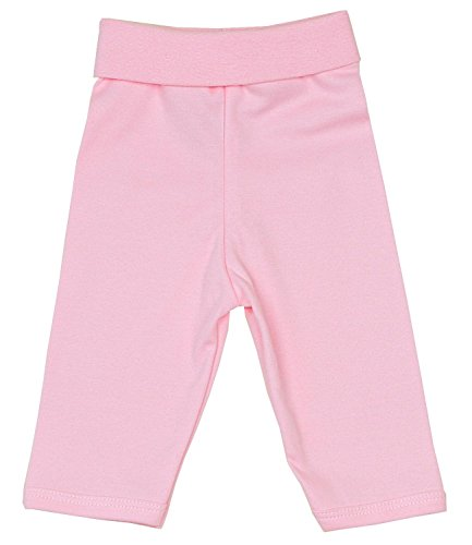 Babyprem bébé nervuré Pantalon Leggings Molle Coton Nouveau-né - 12 Mois Rose 6-12