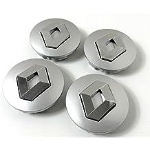 Set de 4 centros de tapacubos de Renault, llantas de aleación, 57 mm,