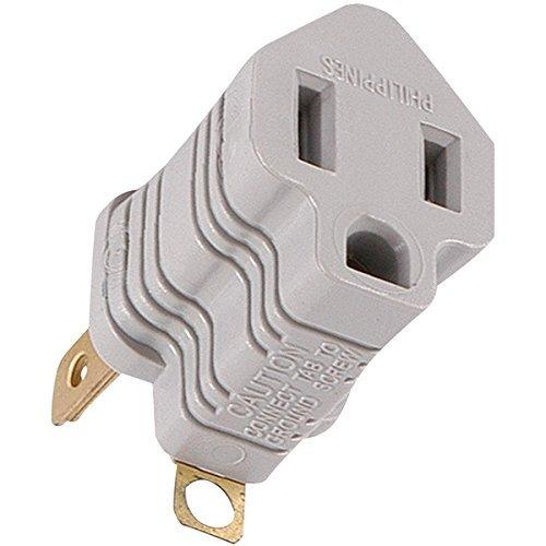 GE 58900 Polarized Grounding Adapter Plug (Gray) Ge Dvd-player