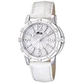 Lotus 15745/1 – Reloj analógico de Cuarzo para Mujer con Correa de Piel, Color Blanco