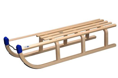 FLS Holzschlitten DAVOS 110 (Schlittenset incl. Zugleine und Rückenlehne)