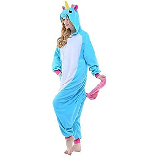Colorfulworld Unicornio Anime Disfraces Kigurumi Trajes Disfraz Cosplay Animales Pijamas Pyjamas Ropa (L, blue)