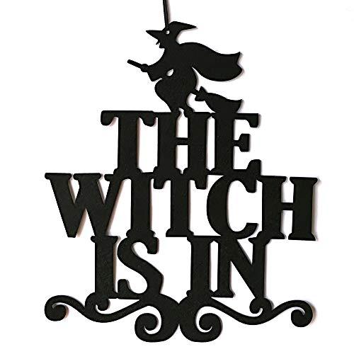 Decdeal Halloween Deko Wand und Tür Hängende Hollow Verzierung Hexe Trick or Treat Festliche Atmosphäre Parteidekoration