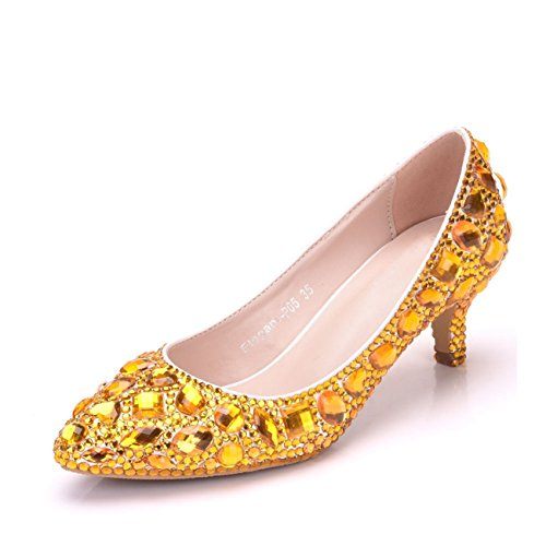 Minitoo , Plateforme femme Gold-6cm Heel