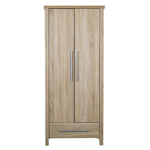 Sonoma Engineered Wood 2 Door Wardrobe (Wooden Wardrobe Cabinet FA_WD_1879_14 Beige Colour)