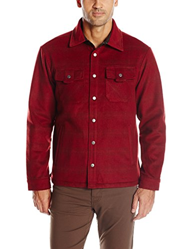 Mountain Khakis Herren Sportsman Shirt Jacke, Herren, 554, Malbec, XXL Plaid Wool Shirt Jacket