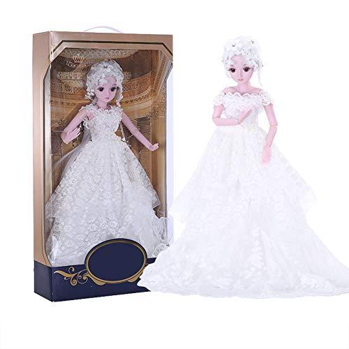 MEMIND Bjd Nach Maß Puppe Weißes Kleid Vollen Satz Gemeinsame Babypuppe Prinzessin 60 cm Spielzeugpuppe Austauschbare Kleidung Frisur Zubehör Kinderspielkamerad