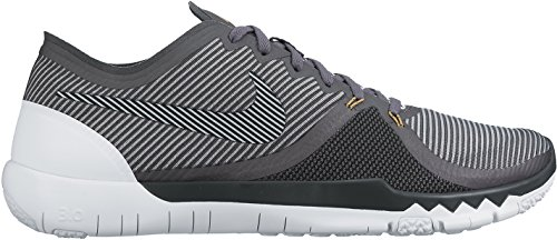Nike  Free Trainer 3.0 V4, Chaussures de sport homme gris / blanc / noir (Drk Grey / Wlf Gry-Mtllc Gld-Blk)