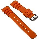 Cinturino di orologio subacqueo da ZULUDIVER, per Seiko Z20 Monster, Arancione, 20mm