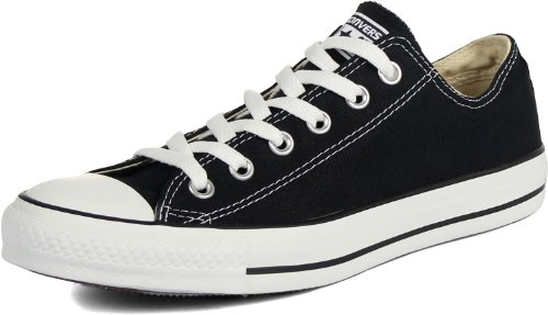 Preisvergleich Produktbild CONVERSE ALL STAR OX LOW BLACK Unisex Casual Shoes #A3 (M9166) My GN (M US8/US9.5 /EUR40.5)