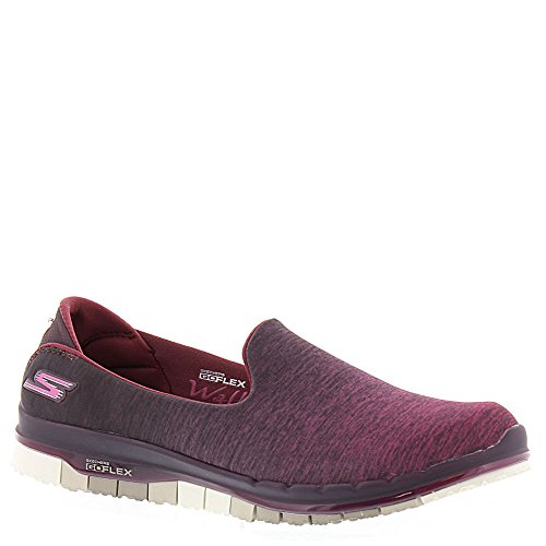 Skechers Go Flex, Baskets Basses Femme, 36 EU Bordeaux