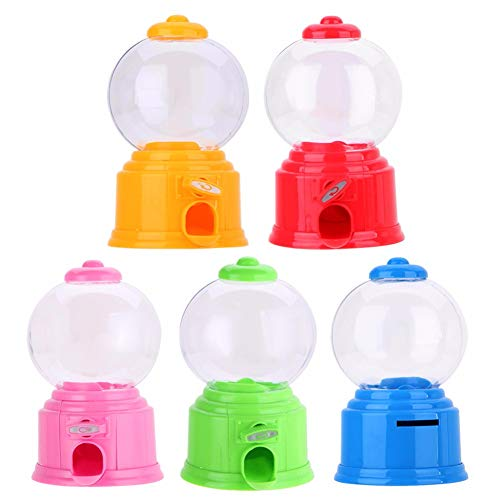 Wenhu Kreative Nette Süßigkeiten Mini Candy Maschine Bubble Gumball Dispenser Münzen Bank Kinder Spielzeug Chrismas Geburtstagsgeschenk,Yellow