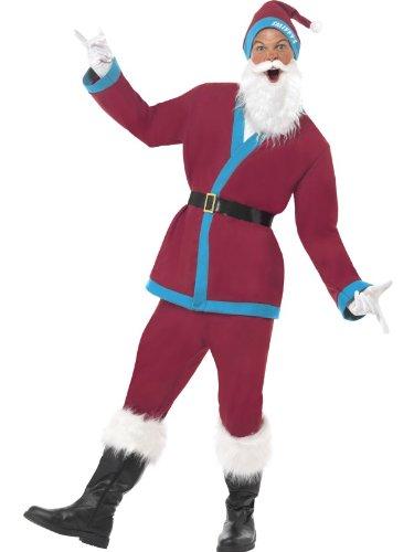 Kostüm Santa Scary - Sporty Santa - Claret and Blue - Adult Fancy Dress Costume