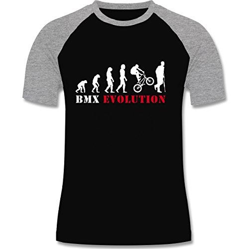 Shirtracer Evolution - BMX Evolution - Herren Baseball Shirt Schwarz/Grau Meliert