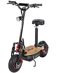 """E-Flux Freeride PRO - Patín eléctrico, 1600 W, 48 V, edición exclusiva con luz y rueda libre, neumáticos de 13 x 5-6"""", plataforma de madera"""