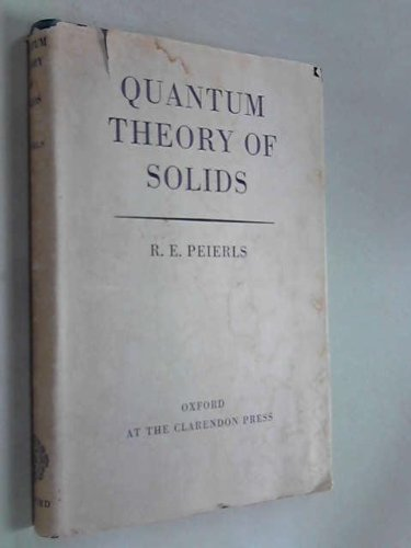 QUANTUM THEORY OF SOLIDS.