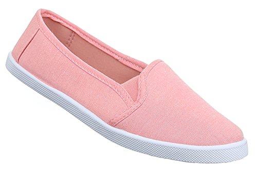 Damen Halbschuhe Schuhe Slipper Sneakers Freizeitschuhe schwarz grau blau rot rosa weiss 36 37 38 39 40 41 Orange