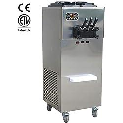 Porte haute capacité de production 3 Chefs Taylor Soft Serve Ice Cream machine 2 + 1 mixtes saveurs Soft machine à crème glacée avec, 2*10l, 2*2l cylindrique
