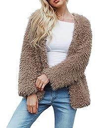 Amazon.es  abrigos de mujer color vino - 20 - 50 EUR   Abrigos ... 31834ceea406