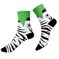 Womens Vibrant Printed Animal Socks UK 2-6.5