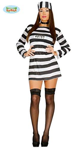 sexy Sträfling Kostüm für Damen Gr. M/L, - Gefangener Kostüm Damen