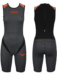 Arena Zipped Trisuit Carbon Pro Combinaison de Triathlon pour Suit Femme Noir/Orange