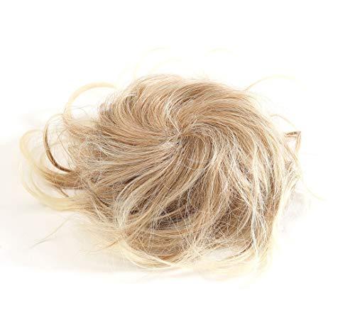 Prettyland - Chignon spettinato extension grande toupet capelli Posticcio elastico per capelli scrunchy nastro coda - 27T613