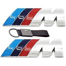 2x Set Emblema M Sport 3D plata cromada (45 * 15mm) Lado Lateral Logo