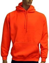 Coole-Fun-T-Shirts Herren Neon Sweatshirt mit Kapuze floureszierend