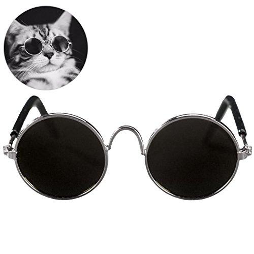 Legendog 1 Paar pet Sonnenbrillen Mode cool Metall Haustier zubehör Hund Sonnenbrille für Katzen kleine Hunde