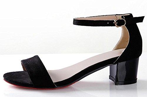 Dans l'état brut avec des sandales romaines sandales printemps et en été avec le mot poulpe sandales bouche Black