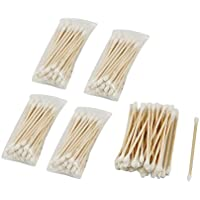 5paquetes (200pcs) desechables doble cabeza de madera Stick bastoncillos de algodón bastoncillos para maquillaje clean cuidado